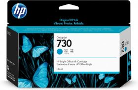 Tint HP 730 P2V62A Cyan 130ml for DesignJet T1600, T1700