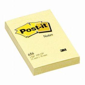 Märkmepaber Post-it 656 51x76mm kollane/12