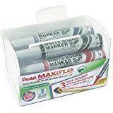 Tahvlimarkerid hoidjaga (4 värvi)+käsn Maxiflo MWL5M-4N, Pentel  /72