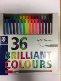 Tindipliiats Triplus Fineliner 0,3mm 36värvi Brilliant colours STD/10