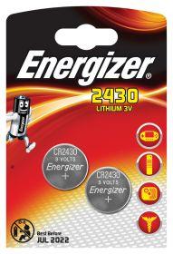 Patarei Energizer CR2430 liitium, 3.0V 2tk/pk/10