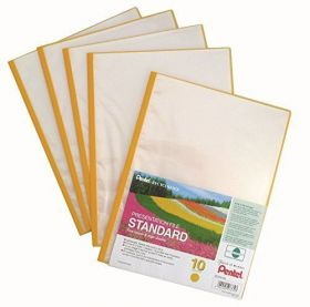 Menüükaaned Recycology A4 10 taskut kollane