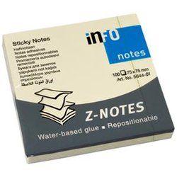 Märkmepaber Info Notes Z-paber 75x75 kollane /12/120