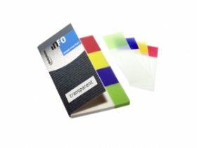 Järjehoidjad Info Notes läbipaistev 4 värvi 20x50mm/12/240