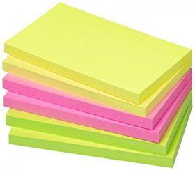Märkmepaber liimiga Info Notes 80lehte, 125x75mm neoonvärvid /6
