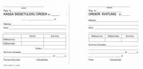 Kassa sissetuleku order A5 laiuti 100 lehte/5