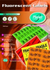 Etiketid Planet A4 70x36 100 lehte/24tk lehel/neoonkollane /10