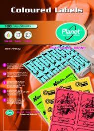 Etiketid Planet A4 105x148 100 lehte/4tk lehel/neoonpunane /10
