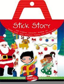 Kleebised jutusta lugu ''Jõulud'' 4lehte+taust Malidor
