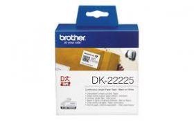 Etiketid Brother DK-22225 38mm x 30,48m rullis/must tekst valgel taustal