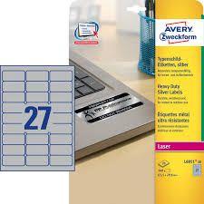 Etiketid Zweckform A4/63,5x29,6 /hõbe/20l/27tk lehel