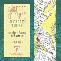 Värviraamat täiskasvanutele 20x20cm 24l 120g ''Lilled'', Clairefontaine