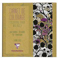 Värviraamat täiskasvanutele 20x20cm 18l 120g ''Mustrid'', Clairefontaine