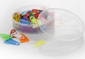 Kirjaklamber 25mm, plastikust värvilised 100tk/pk, Wedo /10