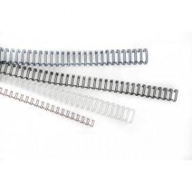 Köitespiraal 10mm metall valge Peach/100