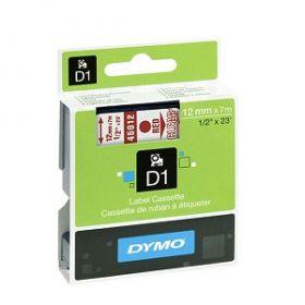 Dymo lint D1 12mmx7m punane/läbip. 45012/5