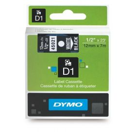 Dymo lint D1 12mmx7m valge/mustal 45021 /5