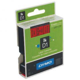 Dymo lint D1 9mmx7m must/punane 40917/5