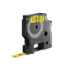 Dymo lint D1 9mmx7m must/kollane 40918/5