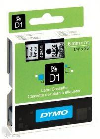 Dymo lint D1 6mmx7m must/läbip. 43610 /5