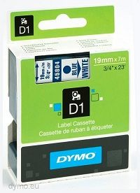 Dymo lint D1 19mmx7m sin/valge 45804/5