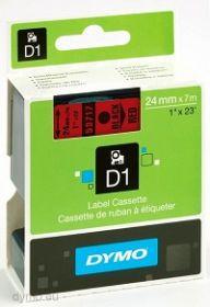 Dymo lint D1 24mmx7m must/punasel 53717/5