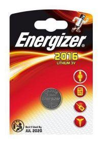 Patarei Energizer CR2016 liitium, 3.0V