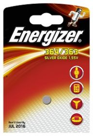 Patarei Energizer 364/363 kella AG1, G1, LR621, 164