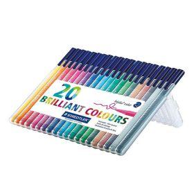 Viltpliiatsid Triplus Color 20 värvi plastkarbis, Staedtler/10