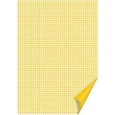 Kartong Heyda 21x31cm/200g Ruudud kollane /20