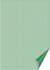 Kartong Heyda 21x31cm/200g Ruudud roheline /20