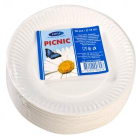 Taldrik Picnic 18cm papist 50tk/pk /20