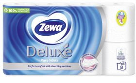 Tualettpaber ZEWA Deluxe 8-rulli (Pure White, 3-kihil)/5