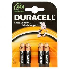 Patarei Duracell AAA 4tk/pk/10