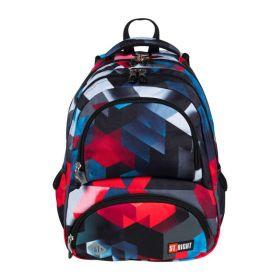 """Seljakott """"Punane & Sinine"""" ergonoomilise ventileeruvast materjalist seljatoestusega 43x38x18cm, St.Right /6"""