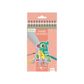 Värviraamat-näpunukud 10x13cm 24l 250g ''Koduloomad'', Avenue Mandarine /5