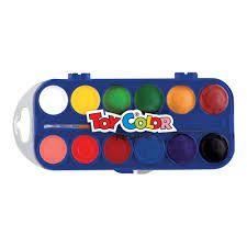 Vesivärvid 12v +pintsel kaanel segamisalus, Toy Color /12/72