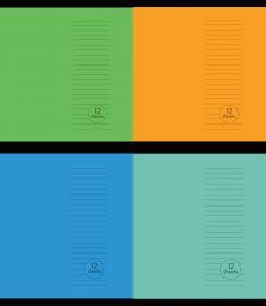 "Vihik A5/12l 23 joont ""Basic"" 4 värvi 60g, Unipap /25"