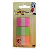 Järjehoidja Post-it 686PGO 3 värvi tugevad (roosa, roh, or) /24