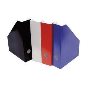 Dokumendikast kartongist A4 vertikaalne, selg 7cm must, punane, sinine, hall/50