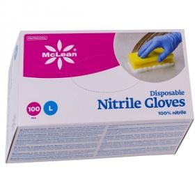 Kummikindad nitriil (S) 100tk/p McLean (sinine)