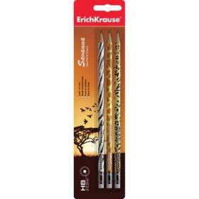 Harilik pliiats HB Savanna kustukummiga 3tk/pk Erich Krause /12