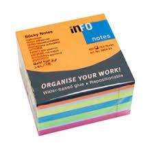 Märkmekuup Info Notes 320lehte, 75x75mm, liimiga, Neon /60