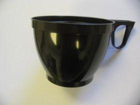Kohvitass 180ml pruun plastik,sangaga 50tk/pk/20