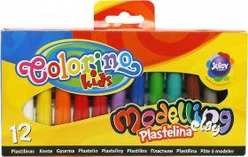 Plastiliin 12 värvi ''Juicy'' 200g, Colorino /6/72