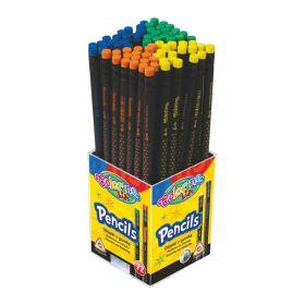 Harilik pliiats HB kustutuskummiga kolmetahuline, värvivalik (CP), Patio /72