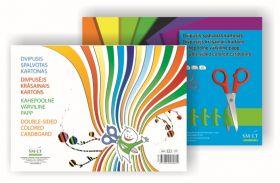 Värviline kartong Smiltainis A4 190 gr. 8-lehte