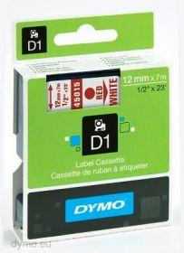 Dymo lint D1 12mmx7m punane/valgel 45015/5