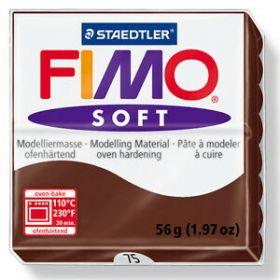 Polümeersavi Soft 57g tumepruun, Fimo /6