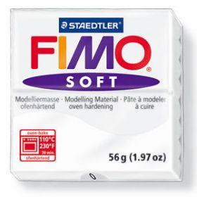 Polümeersavi Soft 57g valge, Fimo /6